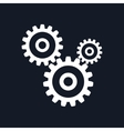 Gears Isolated on Black Background vector image vector image