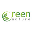 green leaf nature logo vector image vector image