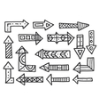 Hand drawn arrows set isolated on white vector image vector image