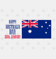 happy australia day 26 january text with vector image vector image