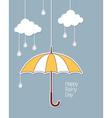 Happy rainy day vector image vector image