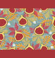 horizontal seamless pattern with figs and autumn vector image vector image