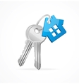 House keys with Blue Key chain vector image