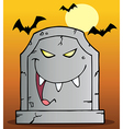 Laughing Tombstone Mascot Cartoon Character vector image