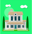 living house exterior vector image vector image