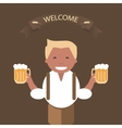 Man with a Mug of Beer in His Hand vector image vector image
