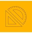 Measuring instruments line icon vector image