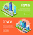 modern urban life banners set vector image vector image