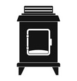 old oven icon simple style vector image vector image
