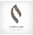 olympic flame people 3d vector image vector image