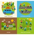 Outing Flat Set vector image