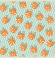 pattern with boxes in dots on zig zag background vector image vector image