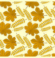 pattern with chestnut and acacia autumn leaves vector image