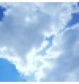 Pixel art sky photorealistic background vector image vector image