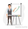 presentation on flip chart paper vector image