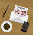 rejected job concept vector image vector image