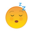 relaxing yellow emoji symbol with closed eyes vector image vector image