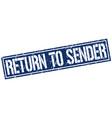 return to sender square grunge stamp vector image vector image