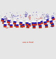russia garland flag with confetti vector image vector image