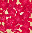 Seamless texture rhododendron red flower vector image vector image