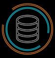 server database connections backup storage vector image