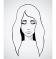 Sketch of a beautiful woman Hand drawn vector image vector image