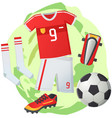 soccer symbols set sport football banner vector image vector image