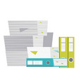 stack of folders and documents cartoon vector image