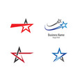 star logo template design vector image vector image