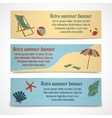 Summer vacation banners horizontal vector image vector image