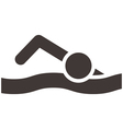 swimming icon vector image vector image