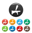 tap icons set color vector image vector image
