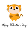 tiger toy icon cute cartoon funny character big vector image