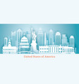 united states america usa landmarks skyline vector image vector image