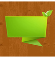 Wood Background With Origami vector image