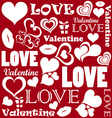 Valentine pattern with love symbols vector image