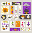 set of halloween gift tags and labels vector image