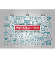 web marketing iocns vector image