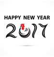 201 and 7 and chicken sign vector image