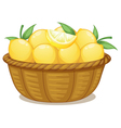 A basket of lemons vector image vector image