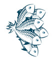 a flock fish vector image vector image