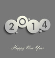Abstract gray New Years wishes vector image vector image