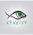 atheism theme - against religious ignorance vector image vector image