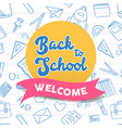 back to school color hand drawn quote class icons vector image