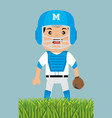 baseball player sport icon vector image vector image