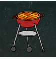 bbq grill summer barbecue equipment isolated on vector image vector image