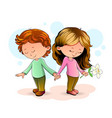 boy and girl love vector image vector image