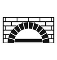 brick oven icon simple style vector image vector image