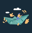business woman sailing vector image vector image