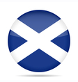 button with flag of Scotland vector image
